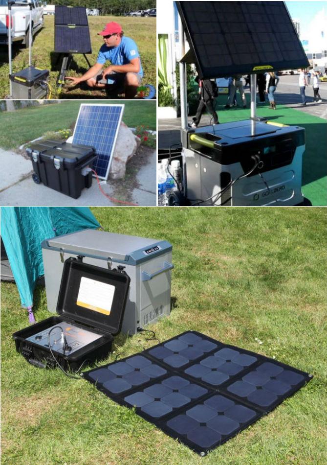 Portable Solar Power Generators In The Wild
