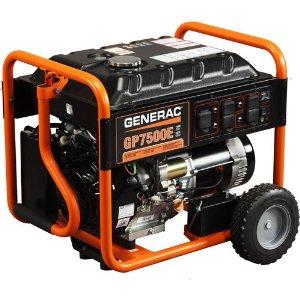 Generac 5943 GP7500E Portable Conventional Genset